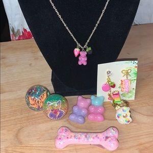 Gummy Bear Necklace*Hair Clips*Earrings*3 Rings